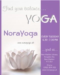 YOGA in new malden, near kingston upon themes