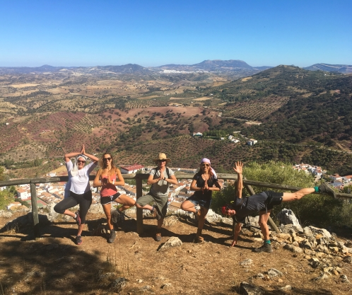 hiking yoga retreat in spain