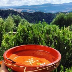 Hiking retreat in Spain -yummy food!
