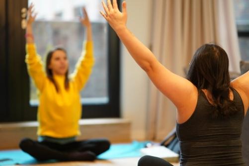 private yoga surrey london nora